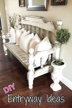 Beautiful entryway bench and small entryway decor ideas - would looks great in a small foyer or apartment entryway. Beautiful entryway bench and small entryway decor ideas - would looks great in a small foyer or apartment entryway. Apartment Entryway, Entryway Decor, Entryway Bench, Bench Decor, Entryway Ideas, Hallway Ideas, Entryway Cabinet, Entryway Furniture, Apartment Living