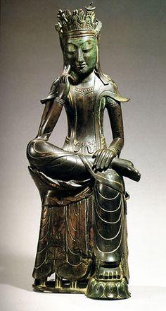 Maitreya. National Treasure #78. Three Kingdoms period, late 6th Cent. Gilt bronze, 83.2cm (32.75in) high. National Museum of Korea, Seoul