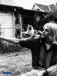 Kurt and a kitten :)