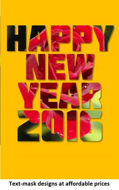 Happy New Year everyone | Beautiful text-mask designs at a very affordable price | Click here for the deal!
