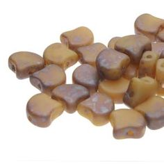 Ginko : GNK8713020-83500 - Matte Opaque Beige Rembrandt - 25 Beads Beads Direct, Bead Shop, Rembrandt, Beige, Bead Weaving, Czech Republic, Nest, Scale, Leaves