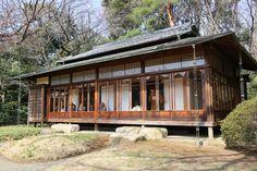 The+rear+view+of+Kakuun-Tei+(Tea+House)+at+the+garden+in+Meiji+Shrine,+Tokyo,+Japan.JPG 1,600×1,067 pixels