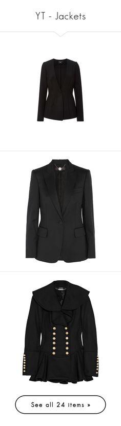 """YT - Jackets"" by gracebeckett on Polyvore featuring outerwear, jackets, blazers, coats & jackets, paule ka, blazer jacket, collarless jacket, stretch blazer, tailored blazer e coats"