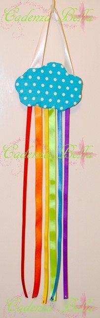 Rainbow cloud clip holder by CadenzaBella1 on Etsy, $10.00