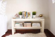Ikea TV bench as a book shelf - 6 ways to use Ikea LACK TV bench