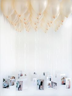 Add a personal and uplifting touch with a balloon chandelier.