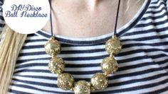 DIY: Disco Ball Necklace