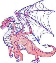 DragoArt.com-- how to draw a dragon step by step: step 8 of 12  :: xLaurieClarkex-- this site is EXCELLENT for learning how to draw ALL KINDS of people and creatures