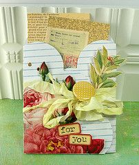 pocket card. {would be nice for altered books or scrapbooking pocket, too}