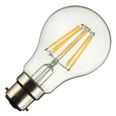 B22 A60 2W 4W 6W 8W Pure Warm White LED COB Edison Globle Flame Retro Vintage Filament Light Lamp Bulbs Non Dimmable AC220V  #neli