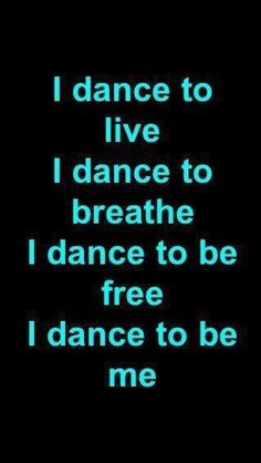 Dance is my life I love it