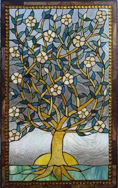 The Tree of Life Stained glass window. by zelma