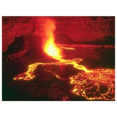 Volcano 3273 - Volcano Wallpaper ❤ liked on Polyvore featuring backgrounds, fire, volcanos, photos and places