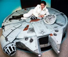 Ditch the car bed and upgrade to the only bed in the galaxy that will do the Kessel run in less than twelve parsecs! The Millennium Falcon bed features hidden compartments for night time smugglers, as well as built in lighting in the front and back of the vehicle.