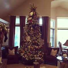 Got my tree up and decorated. Let the Holidays begin! Love this time of year:) www.sexymodest.com