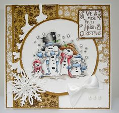 LOTV - Snow Family with Krafty Christmas Paper Pad and Set 33  Christmas Grungy Messages by Lorraine Bailey