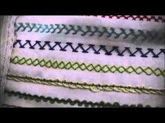 En este video continuamos con el aprendizaje de puntadas básicas como la pata de gallo, medio diamante y el punto escapulario , puntadas importantes para ini...
