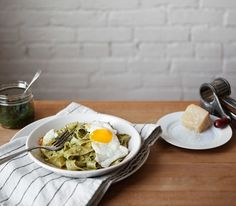 Pappardelle With Dandelion Pesto   Free People Blog #freepeople