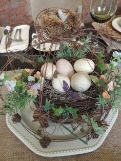 The Nest at Finch Rest: Spring Tablescape - Nature's Elements