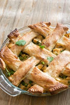 Easy Chicken Korma Pot Pie - a classic comfort food dinner with great Indian flavors