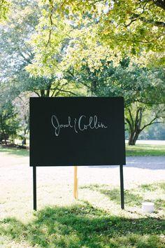 DIY chalkboard photo-booth backdrop