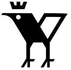 Interesting book/bird icon #logo #geometric #bird #mark #emblem