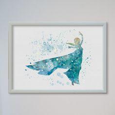 Königin Elsa Frozen Kunstdruck A4 von Traumweber auf DaWanda.com