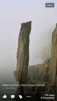 Balance of nature in a never give up perspective Photos] - Balancing Rock, Nova Scotia, CANADA Oh The Places You'll Go, Places To Travel, Places To Visit, Beautiful World, Beautiful Places, Wonderful Places, Nova Scotia, Natural Wonders, Amazing Nature