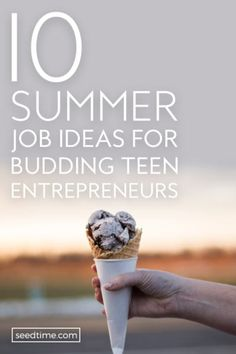 Before dropping off your first application for a summer job, you should first first stop and define what the perfect summer job looks like.  Some teens would love to spend the summer working at a camp, and others would be content setting up their own business.  Make sure you define what you are looking for before you start shopping for jobs. Here are 10 awesome summer jobs for budding teen entrepreneurs! #summerjobs #jobsforteenagers