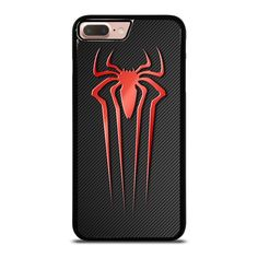 SPIDERMAN CARBON LOGO iPhone 8 Plus Case - Best Custom Phone Cover Cool Personalized Design – Favocase