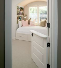 Love the half door! Great for toddler room where you could keep the top open (hear when they wake) and bottom stays shut as a gate. Maybe for Izzy once she gets out of the crib