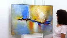 Painting on canvas - Painting on Recycled Canvas - 2 - Old Wooden Board