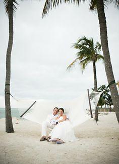 A Key West wedding photo taken at Postcard Inn Beach Resort & Marina