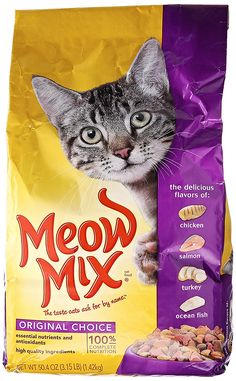Meow Mix Original Choice Dry Cat Food, 3.15-Pound ** Unbelievable cat item right here! : Cat food