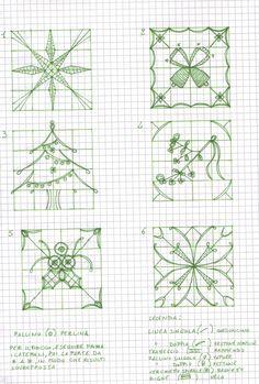 Reticello di Natale - pattern drawings  (<3 <3 <3)