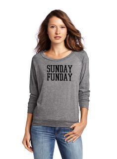 SUNDAY FUNDAY. Football Fan. Statement Shirt. by SwellStated