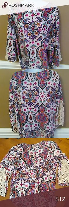 Red Came Printed Blouse Printed blouse only worn once. Red Camel Tops Blouses