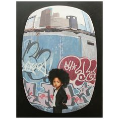 Hyper realistic painting of kids and graf. pretty cool!