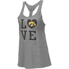 Image for Iowa Hawkeyes Heather Grey Women's Vintage Forget Me Knot Tri-Blend Tank Top from Scheels