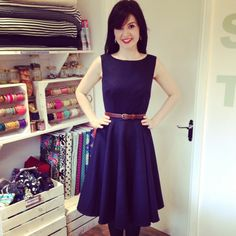 Lisa Comfort's Betty Dress in 100% wool. Who says sleeveless isn't for winter??