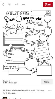 Back to School: FREE printable 'Let me introduce myself