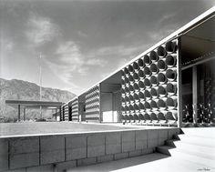 Palm Springs City Hall, CA by Albert Frey (1952) - photo by Julius Shulman