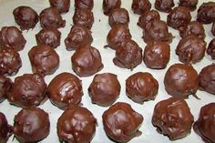 Ingredients:  ½ cup peanut butter  3 tbsps soft butter  1 tsp vanilla  1 cup Rice Krispies  ½ cup chopped pecans  1 cup shredded coconut    Directions:  Mix together,refrigerate for a half hour and form into balls. Return to fridge and let chill at least