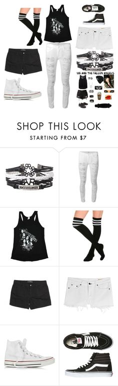 """""""A Beauty"""" by ari-bvb ❤ liked on Polyvore featuring Hudson, Joe's Jeans, rag & bone, Converse, Vans, women's clothing, women, female, woman and misses"""