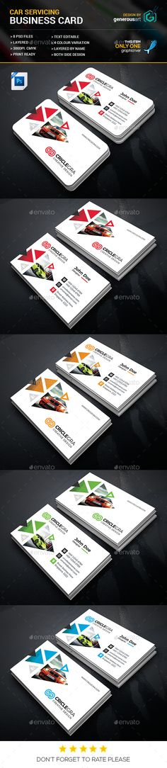 Car Servicing #Business #Card - Business Cards Print Templates Download here:  https://graphicriver.net/item/car-servicing-business-card/20083707?ref=alena994