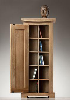 Tokyo Solid Oak CD cabinet www.oakfurnitureland.co.uk