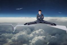 17 Ridiculous Stock Photos About Flying