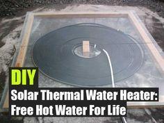 DIY Solar Thermal Water Heater,DIY,free water,free,homesteading,how to,shtf,teotwawki,frugal, solar water heater, photovoltaic, tankless water heater, http://calgary.isgreen.ca/