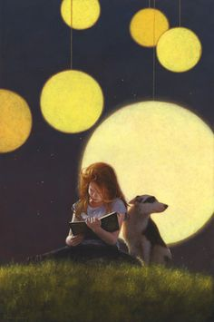 Book worm | Jimmy Lawlor, painting, 'Light Reading'