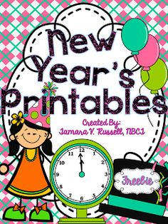 FREEBIE - New Year's Printables.  Appropriate for high kinders, and firsties.